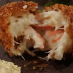 Crab meat croquette bomb in Shimbashi