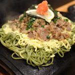 Soba noodle on a roof tile